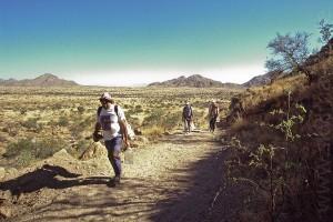 Der Gamsberg wird bestiegen (Januar 2002)
