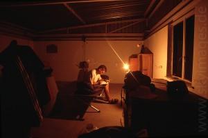 Eine Nacht auf dem Gamsberg (Januar 2002)