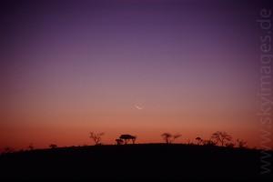 Monduntergang auf Hakos (Januar 2002)