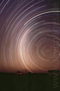 Sternenhimmel über dem Gamsberg (Januar 2002)