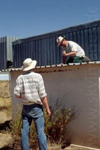 Reparaturarbeiten an den Gamsberghütten (Januar 2002)
