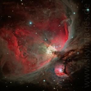 der Große Orionnebel M42 (Aufnahme von 2009)
