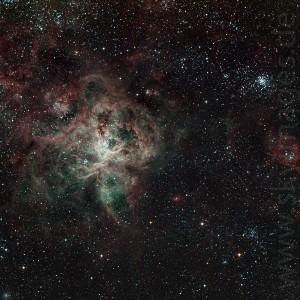 Tarantelnebel NGC 2070 in der Großen Magellanschen Wolke (Aufnahme von 2009)