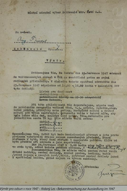 Räumungsbefehl von 1947