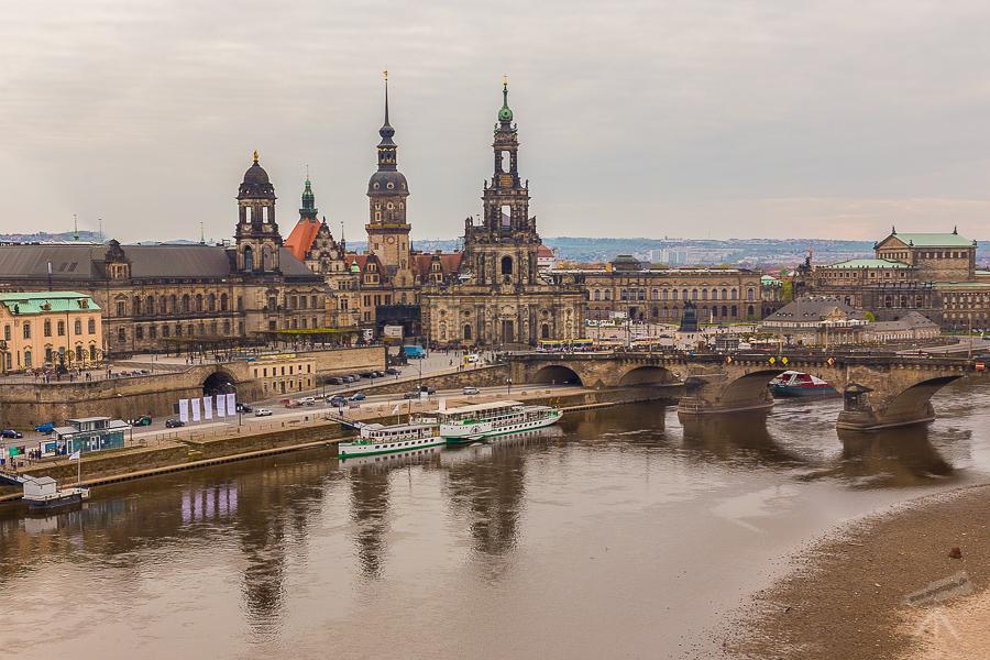 Altstadt-Silhouette aus de Vogelperspektive