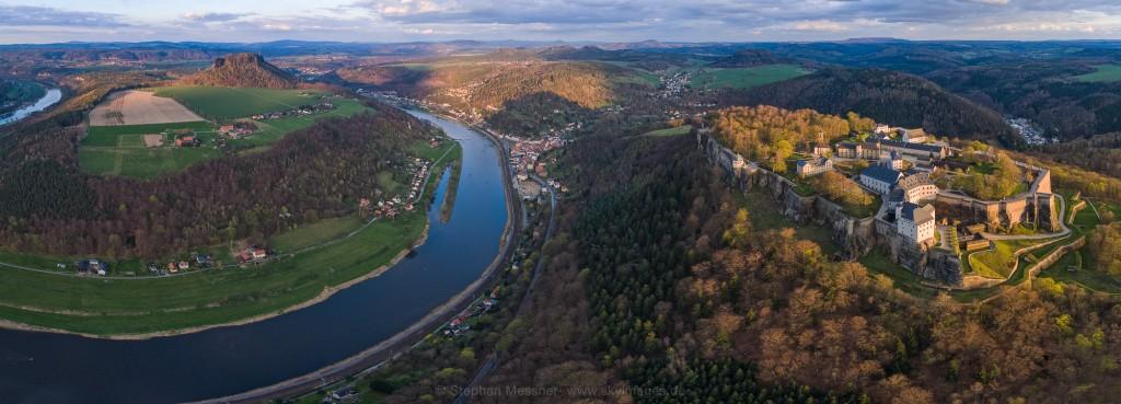 Festung Königstein im Abendlicht