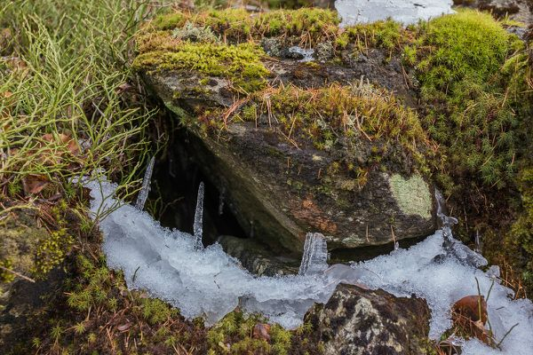 kleine Eishöhle